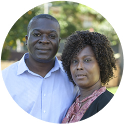 Church Elder Charles Afful with his wife Vera