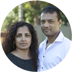 Church Elder Rohan Arudselvam with his wife Christine